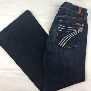 7 For All Mankind Dojo Boho Denim Jeans Size 28